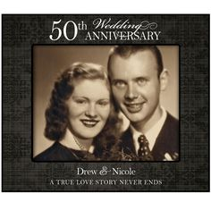 Personalized 50th Golden Wedding Anniversary Photo Frame For Wall Or Desktop A True Love Story