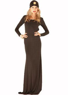 Ramona LaRue Ruby Open Back Dress in Black Venezia