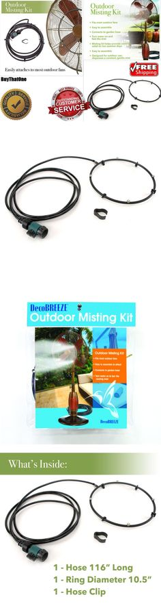 Hose Nozzles and Wands 181015: Water Misting Fan Kit Cooling System Portable Garden Hose Connector Wall Mount -> BUY IT NOW ONLY: $36.99 on eBay!