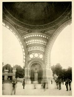 Inside the Monumental Gate of the Exposition Universelle of Paris Vintage Architecture, Sacred Architecture, Art Nouveau Architecture, Historical Architecture, Paris Architecture, Paris Photography, Vintage Photography, Tour Eiffel, Old Paris
