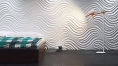 Na fali kreacji - panele dekoracyjne Wave, Choppy, Curled marki Dunes Decorative Wall Panels, 3d Wall Panels, Design System, Loft Design, Paint Cans, Modern Interior, Curtains, Contemporary, Home Decor