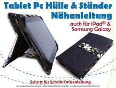 Nähanleitg. Accessoires - Nähanleitung Tablet PC Hülle
