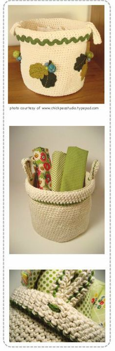 Crochet Basket. I'm adapting this for a casserole carrier. . ☀CQ #crochet   http://pinterest.com/CoronaQueen/crochet-for-the-home-corona/