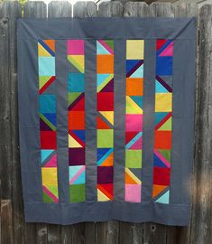 Colorful Quilts, Small Quilts, Mini Quilts, Scrappy Quilts, Modern Quilt Blocks, Modern Quilt Patterns, Modern Quilting, Barn Quilt Designs, Quilting Designs