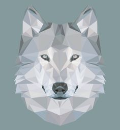 low poly art - wolf