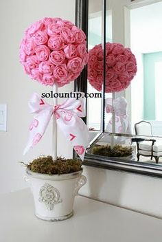 topiarios flores de papel - Buscar con Google