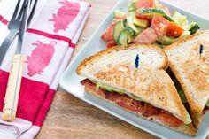 Classic B.L.T. Sandwiches with Tomato, Avocado & Cucumber Salad