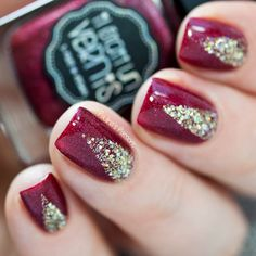 Classy Red Nails with Il Était Un Vernis by Paulina's Passions