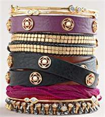 layering bracelets....so chic!