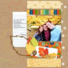 Fall scrapbook idea