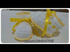 Botinha de Croche para Bebe parte 1 - YouTube