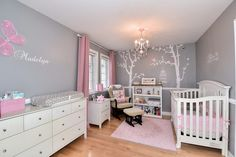 A beautiful example of using #popdecors #walldecal for #nursery decoration. A great room for princess!