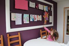 The Home Organisation Project: My Kids Art Wall