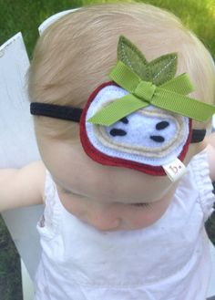 Little Apple Baby/ Toddler Headband by letterbdesigns on Etsy