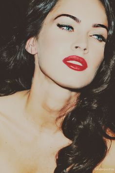 Megan Fox 40's style retro glamour <3 #topshoppromqueen sexy look in her eyes