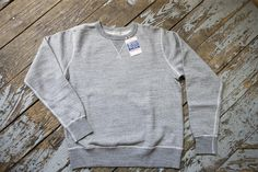 Buzz Rickson Grey Marl Single-V Needle Sweatshirt | American Classics London