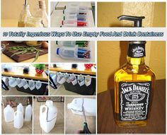 19 Totally Ingenious Ways To Use Empty Food And Drink Containers Read HERE --- > http://www.livinggreenandfrugally.com/19-totally-ingenious-ways-use-empty-food-drink-containers/