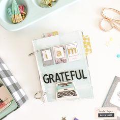 How-to: Gratitude Mini Album - Crate Paper