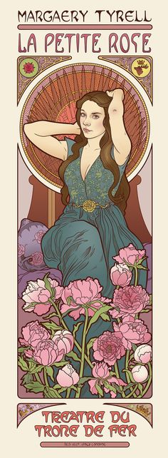 Game of Thrones Art Nouveau posters via Huffington Post