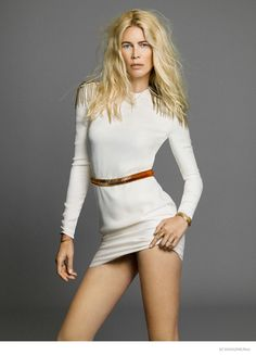 Claudia Schiffer Works It in SZ September 2014 Photo Shoot