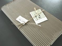 Creating an envelope with corrugated cardboard...
