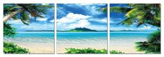 Modrest Atoll 3-Panel Photo VGSCSH-710-71089ABCProduct :70805Features:3 PanelsDimension:Each Panel Painting: W24