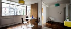 A one-bedroom flat in a housing block in northwest London has been updated with modern fittings and furniture in this project by designer Adrian Manea Kitchen Trends 2018, One Bedroom Flat, Plan Design, Mid Century Design, Open Plan, Small Spaces, Refurbishment, Interior Design, Park