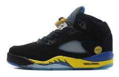 premium selection 130ba 329f2 Nike Air Jordan 5 Retro Laney for Menn Sko Svart Gul Salg Air Jordan 5 Retro