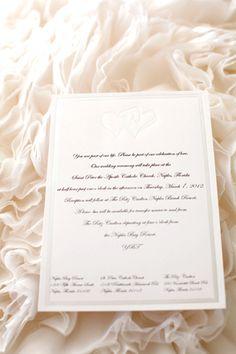 #neutral wedding invitation... Wedding ideas for brides, grooms, parents & planners ... https://itunes.apple.com/us/app/the-gold-wedding-planner/id498112599?ls=1=8 … plus how to organise an entire wedding ♥ The Gold Wedding Planner iPhone App ♥