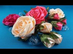 Good day friends! Today, I propose to see how it can make a rose out of the whole ribbon easily and quickly, combining several techniques to work with ribbo...