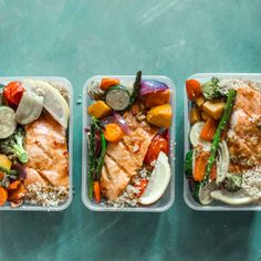 Honey Salmon Meal Prep