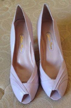 VTG 1980S - Womens BRAZIL Made SUTTON PLAZA Pink Classic Leather Heels Pumps 8.5 #SuttonPlaza #Heels