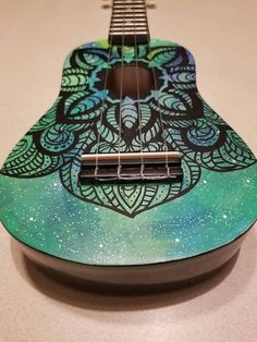 Acoustic Guitars – Page 10 – Learning Guitar Ukulele Instrument, Ukulele Art, Baritone Guitar, Guitar Songs, Acoustic Guitar Strings, Acoustic Guitars, Fender Guitars, Painted Ukulele, Painted Guitars
