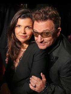 Bono and Ali Hewson #u2newsactualite #u2newsactualitepinterest #u2 #bono #paulhewson #music #rock #alisonhewson #alihewson