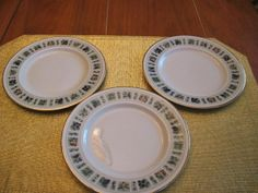 Three Vintage Royal Doulton Tapestry Bread and Butter or Side Plates 1960 8_95 USD