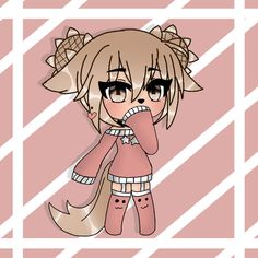 Cute Anime Chibi, Cute Anime Pics, Anime Wolf Girl, Anime Art Girl, Kawaii Drawings, Cute Drawings, Neko Kawaii, Estilo Anime, Anime People