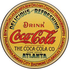 """Delicious and Refreshing Drink Coca Cola"" graphic"