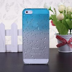 0.90$ (Buy here: http://alipromo.com/redirect/product/olggsvsyvirrjo72hvdqvl2ak2td7iz7/32379874434/en ) Phone Protective Shell 3D Raindrops Waterdrop Gradient Cases Cover For Iphone5S 4 4s  Case For IPhone 5 6 6plus 7 7plus Case for just 0.90$