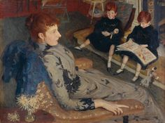 Philip Wilson Steer 'Mrs Cyprian Williams and her Two Little Girls', 1891