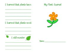 If you're planning on growing seeds in your classroom, then you need a journal so that your students can track the growth process. Here's a great little journal that is perfect for primary grades. You can copy the inside pages however you'd like. I start out with the pictures only pages then progress to the pages that ask for words. The back page asks students to reflect back upon what plants have and need.