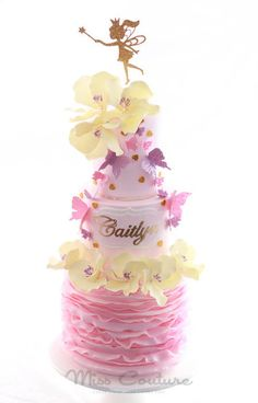 The Sweet Little Fairy Princess cake ~ all edible ( except for the gold princess)