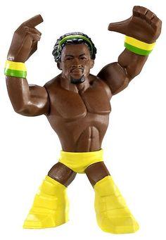 KOFI KINGSTON WWE RUMBLERS MINI Wrestling Figure Mattel 3+ Yellow