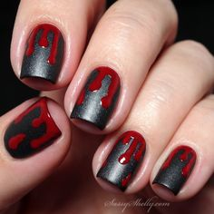 Image result for blood nail art