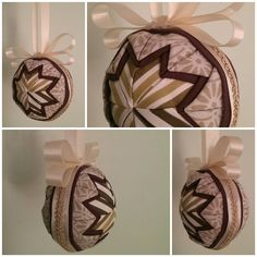 My first christmas ornament made out of fabric. There is one more on my blog =) #christmas #ornament #diy #fabric #jul #julepynt