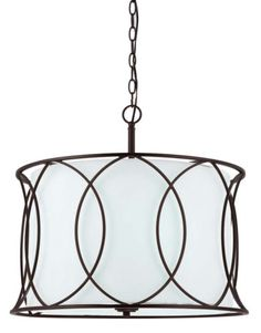 WHITE-Shade-Rustic-Drum-Chandelier-Entryway-Kitchen-Lighting-Den-Dining-Room-NEW