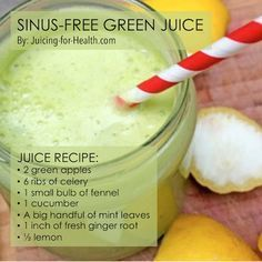 3 Juice Recipes To Reduce Your Stuffy Nose And Remedy Sinus Congestion - Juicing For Health