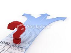 Tax Choices Royalty Free Stock Photo