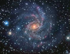 Fireworks Galaxy facing NGC 6946 is 10 million light years away but viewable from the Milky Way Galaxy.
