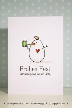 Paper Smooches Warm Hearts - cute snowman card by Frau Vögeli