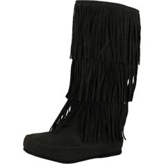 01c7cf108 Pierre Dumas Womens Apache-4 Fringe Moccasin Fashion Boots ( 55) ❤ liked on  Polyvore featuring shoes